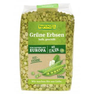 Erbsen grün halbe
