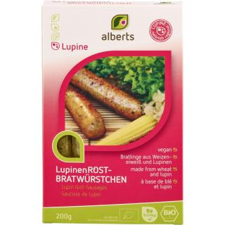 Alberts Lupinen-Rostbratwürstchen, 200 gr Packung