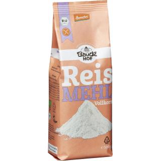 Bauckhof Reis-Vollkorn-Mehl, 500 gr Packung - glut
