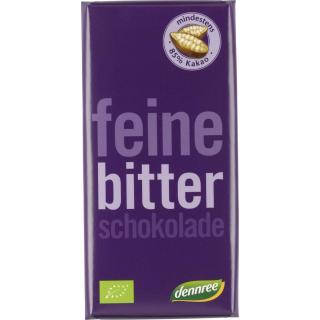 dennree Feine Bitter Schokolade 85%, 100 gr Stück
