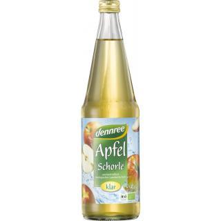 dennree Apfel-Schorle klar, 0,7 ltr Flasche