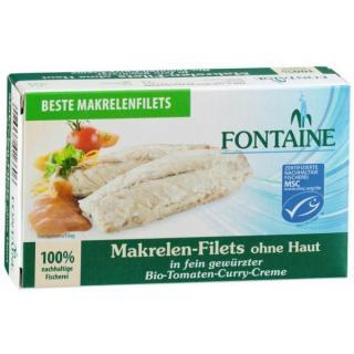 Makrelen-Filets Tomat-Curry