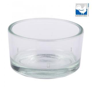 Glas für Teelicht Bienenw.