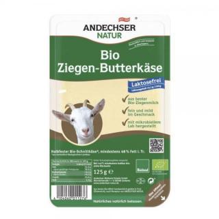 Andechser Ziegenbutterkäse in Scheiben, 125 gr Pac