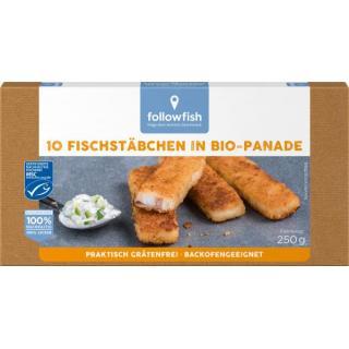 Fischstäbchen m. Bio-Panade