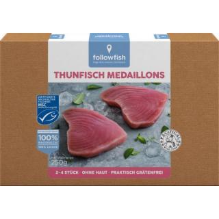 followfish Thunfisch Medaillons, 250 gr Packung