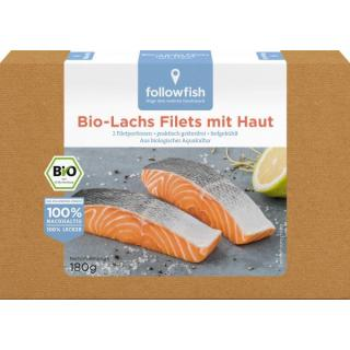 followfish Lachsfilets mit Haut, 180 gr Packung