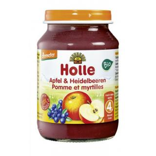 Apfel mit Heidelbeere